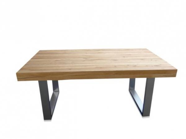 Industrie Möbel Esstisch Tisch aus Eiche mit Eisengestell