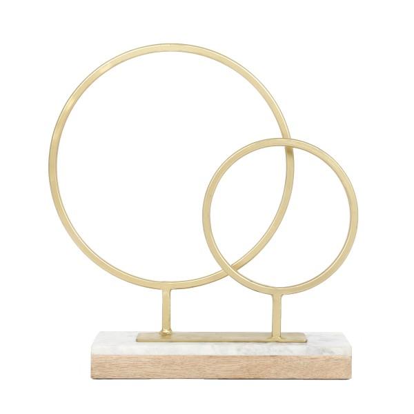 Skulptur Amaro 1287 Gold / Weiß