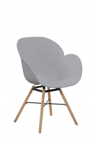 Stuhl Amalia 110 2er-Set Grau