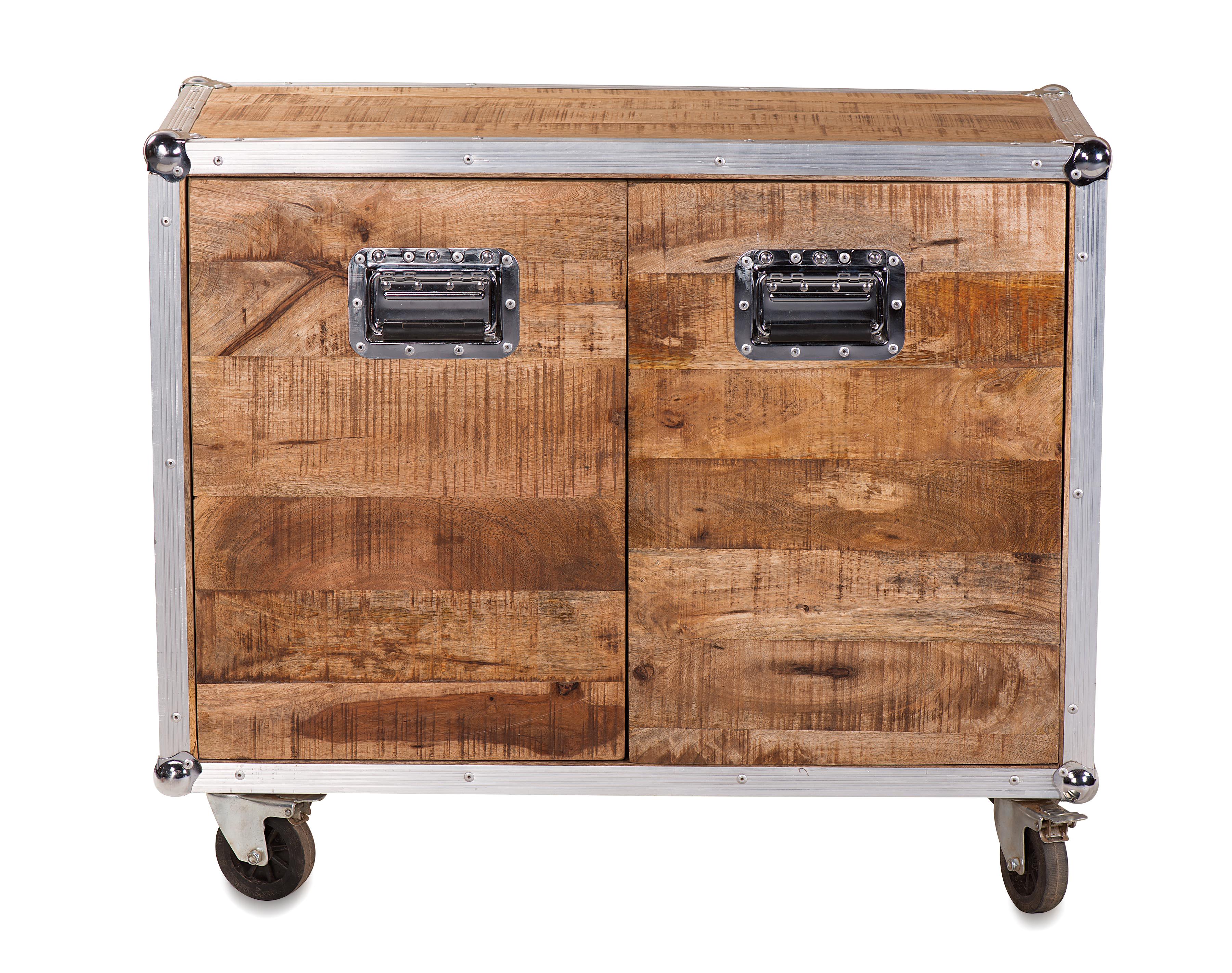 Couchtisch Truhe Im Industrial Chic Design Aus Recycling Holz