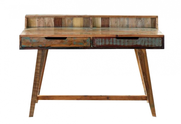 Shabby Chic Schreibtisch aus Massivholz - Vintage Look