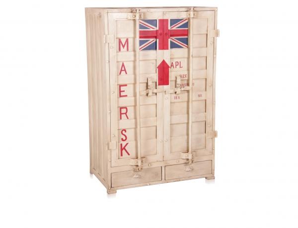 Kleiderschrank im Container Look aus Eisen