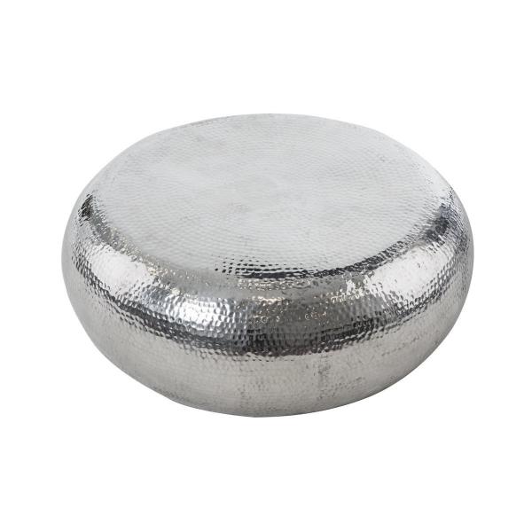 Couchtisch silber aus Aluminium - Vintage Look