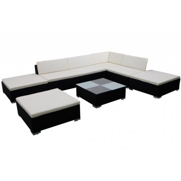 Gartenmöbel Rattan Lounge Set Garnitur